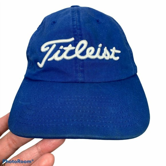 Titleist Golf 6 Panel Blue White Spell Out Cap Hat